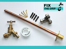 Professional THRU WALL Outside Garden Tap Kit meets Water Regulations GT7 DIY