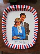 Prince Charles And Lady Diana Commemorative Tin Plate 1981