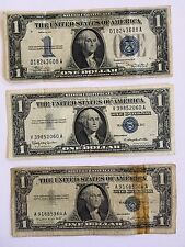 "1934  $1 Silver Certificate  ""Funny Back"" + 2 Other Silver Certificates"