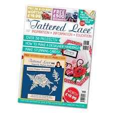 Tattered Lace Revista-Edición 32-con libre dulce Amapola Die + Cd-rom-Nuevo fuera