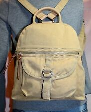 FOSSIL Tan Small Canvas Shoulder Tote Hobo Back Pack Purse Bag