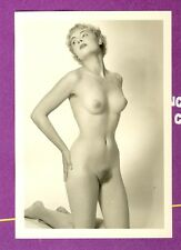 "D286 # Photo c.1960 PIN-UP GIRL NUDE NUDO NU atto NUDO SENO studio ""agfa lupex"""