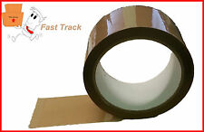 2 X STRONG Brown buff Parcel Packing Tape packaging sealing 48mm x 66m *FREE P&P