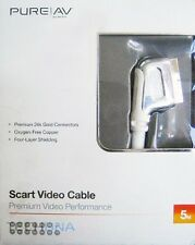 Belkin 5m PureAV Gold Scart Video Cable AD81500qn5M 5 Metre TV VCR DVD Lead