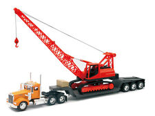 Newray 1/32 Kenworth W900 Big Rig Construction Crane Semi Truck Trailer 11293