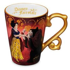NEW DISNEY STORE FAIRYTALE SNOW WHITE & THE HAG MUG EVIL QUEEN HEROES VILLAINS