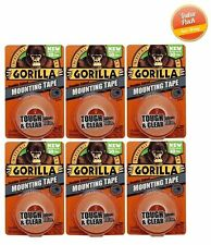 Gorilla Glue 6065001 Mounting Tape, Clear - 6 PACK