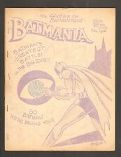 1966 Batmania #9 ~ Batman Fanzine DC Comics - VF+/ NM - WH