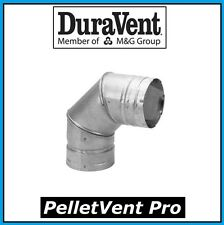 "DURAVENT PELLETVENT PRO Pipe 3"" Diameter 90 Degree Elbow #3PVP-E90 NEW!"