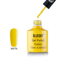 80576 Bluesky Soak Off UV LED Gel Nail Polish Bicycle Yellow Lemon