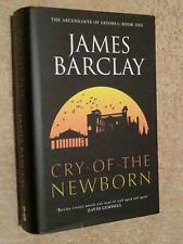 James Barclay SIGNED Cry of the Newborn 1st Edn UKHC