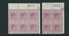 BAHAMAS 1952 KGVI definitive (SG 149e 1/2d) VF MNH Numbered blocks of 4 and 6