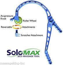 SoloMAX self massager tool w/ rolling wheel. Similar to Theracane. FREE Shipping