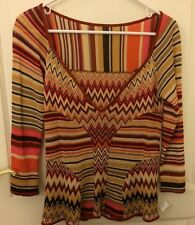 Authentic Missoni Womens Sweater Long Sleeves Top Blouse Sz 44 Made In Italy S M
