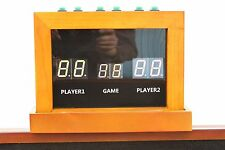 2 PLAYER UNIVERSAL ELECTRONIC SCORING UNIT~SCORE BOARD~SHUFFLEBOARD TABLES ~ OAK
