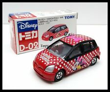 TOMICA D-02 DISNEY MINNIE MOUSE TOYOTA VITZ 1/57 TOMY DIECAST CAR New 110 RED