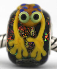 SPOTTED FROG sterling silver core european charm bead lampwork murano glass MWR