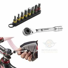 Bicycle Multi Tool Ratchet Allen Hex Torx Key Screwdrivers Compact Bike SC0040