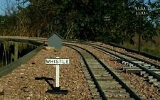 SM 32 G SCALE  WHISTLE SIGN POST (Garden railway) set of 4