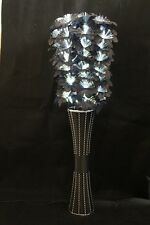 Fibre Optic Light Up  Flowers With 80 LED Lights & Black Willow Vase UK Mains