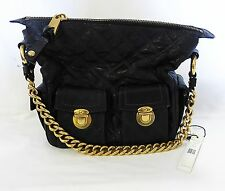 Marc Jacobs quilted black leather handbag tote C371010 MSRP $1095