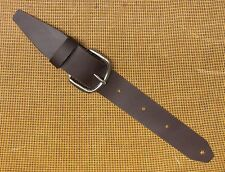 Retrofit BROWN Leather Guitar Strap Extender & Buckle Adaptor - TROPHY USA made