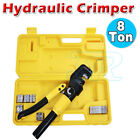 Cable Wire Crimping Plier Force Tool Kit 9 Die 4mm-70mm 8 Ton Hydraulic Crimper