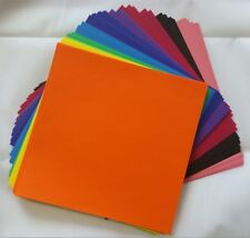 """150 Sheets Double Sided Colored Paper Assorted Colors Origami 15cm (5.9"""") Square"""