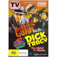 DVD DOUBLE PETER GUNN + DICK TRACY  CRIME B&W ALL REGIONS BYRD STEVENS R4