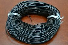 100 YARDS BLACK LEATHER BEADING CORD STRING 2MM #F-56G