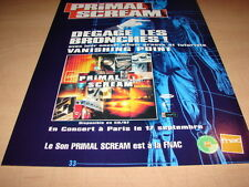 PRIMAL SCREAM - VANISHING POINT!!!!!!PUBLICITE / ADVERT