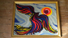 1970s Modern art tapestry French 56 x 45 cms
