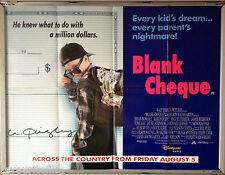 Cinema Poster: BLANK CHEQUE 1992 (Quad) Brian Bonsall Karen Duffy James Rebhorn