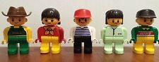 LEGO Duplo People Lot of 5 Family Mom, Dad, Two Boys and a Girl EUC
