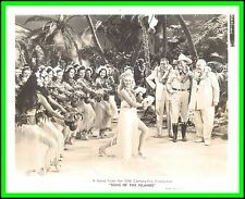 """BETTY GRABLE, JACK OAKIE & THOMAS MITCHELL in """"Song of the Islands"""" Origin. 1942"""