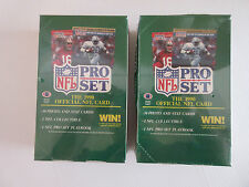 1990 Pro Set Football Series 1 wax boxes  -  2 boxes  -  total of 1,080 cards