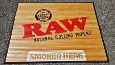 "New RAW Brand Giant Bamboo Floor Door Mat Tobacciana 47"" x 37 1/2"" Inches"