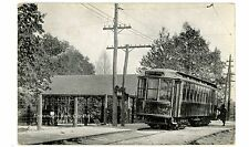 Olean NY -TROLLEY AT ENTRANCE TO ROCK CITY PARK- Postcard