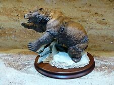 """Beautiful Large """"Grizzly"""" Bear Figurine Franklin Mint Collectable 11"""" x 8"""""""
