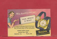 George VI Bulova Watch Advertising post card Canada