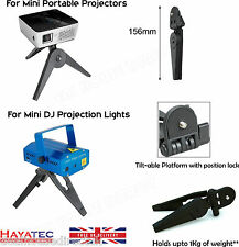 Tripod Small Portable Foldable Stand For Mini Projectors DJ Lights recorders UK