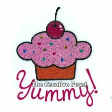Yummy! Cupcake - DIY Iron On Glitter T-Shirt Heat Transfer - NEW