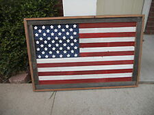 Large Rustic Wood American Flag, Wall Hanging Art, Reclaimed lumber 24 x 36