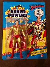 Mattel DC Super Powers GOLD SUPERMAN 30th Anniversary Figure Kalibak BAF Piece