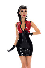 X0208 Rubber Latex Divert Dress **Silver/Emerald* SIZE 12 UK  ONE ONLY