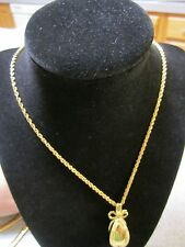 JOAN RIVERS GOLD RUSSIAN EASTER EGG CHARM PENDANT NECKLACE