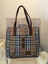 BURBERRY SIGNATURE NOVA CHECK LARGE TOTE BAG AUTHENTIC NEW