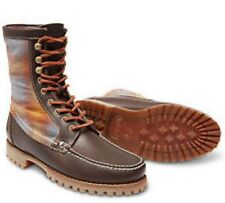 "New"" Men's Timberland UK 9.5 Authentics 8inch Rugged Handsewn Brown Boots 44EU"