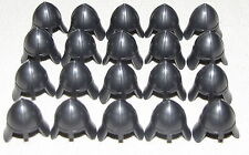 LEGO LOT OF 20 NEW DARK PEARL GREY CASTLE HELMETS WITH NECK GUARD FOR KNIGHTS