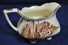 Myott & Son Homeland Coffee Creamer Brown Creme Excellent Condition